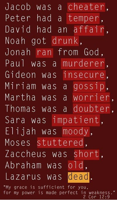 God used them. What's your excuse?