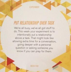 relationship over task