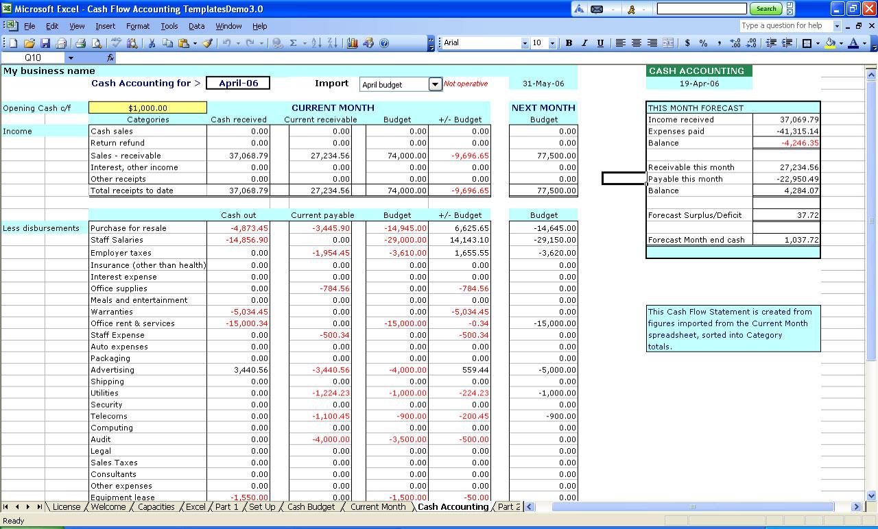 Excel Spreadsheet