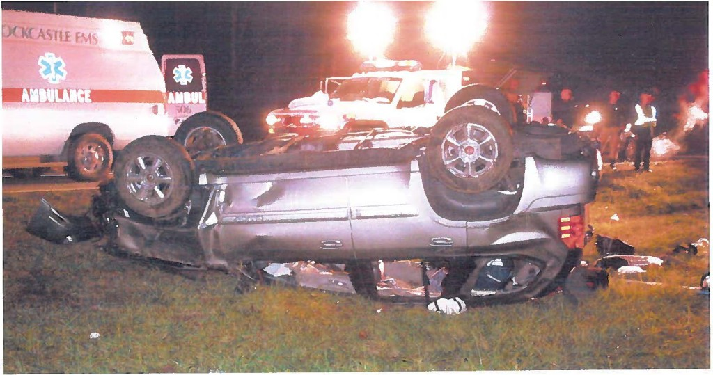 The scene of the accident on November 20, 2009